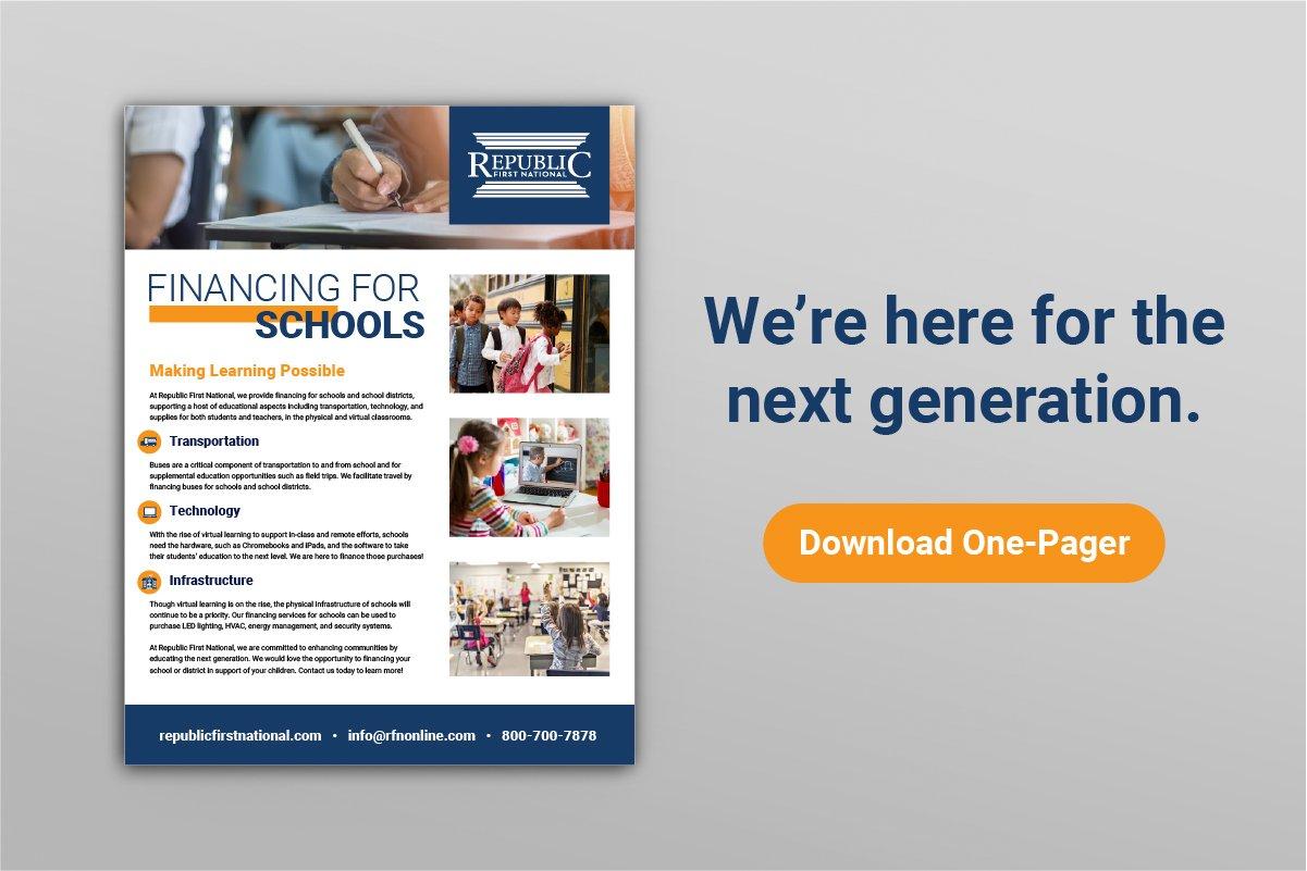 municipal financing, financing for schools